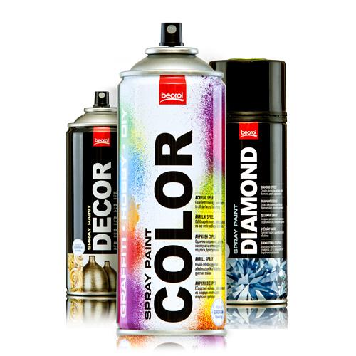 Спрееви за бојадисување и фарбање
