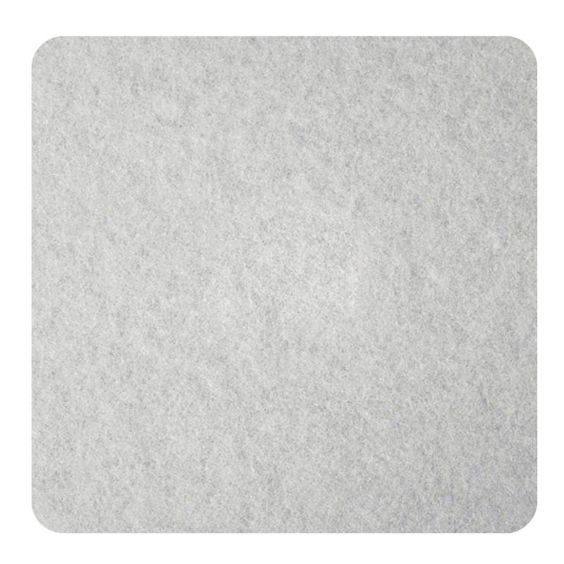 Самолепливи подлошки од филц, бели 100 x 100 x 3мм