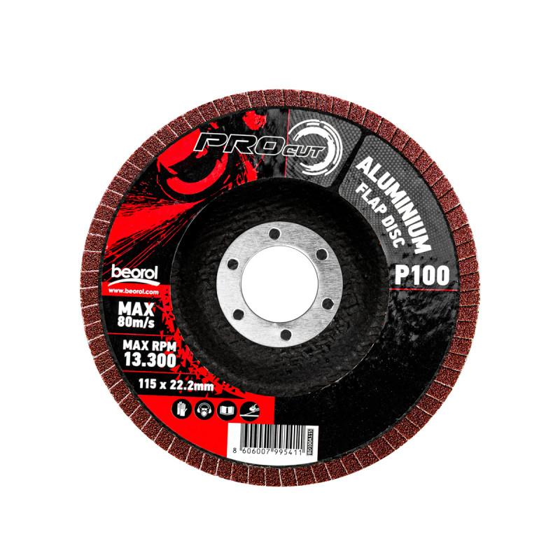 Брусен диск алуминиум ø115мм, гранулација 100