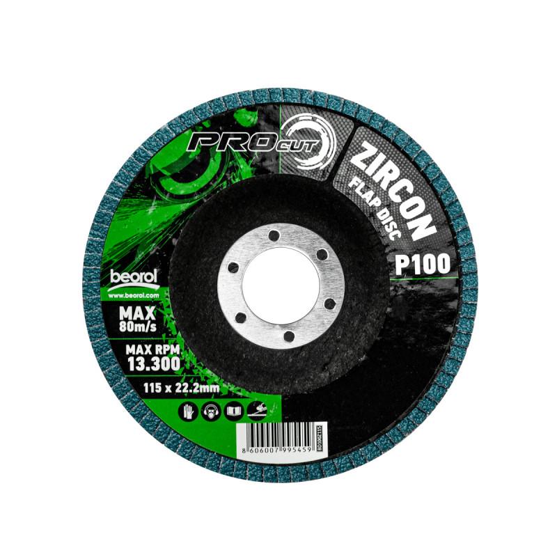 Брусен диск циркон ø115мм, гранулација 100