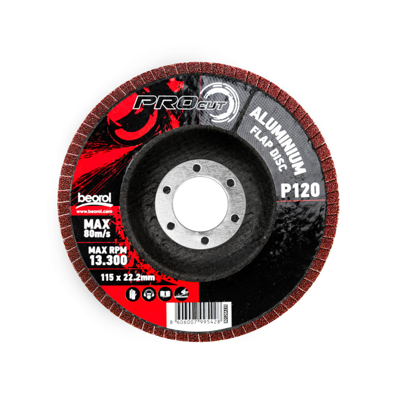 Брусен диск алуминиум ø115мм, гранулација 120