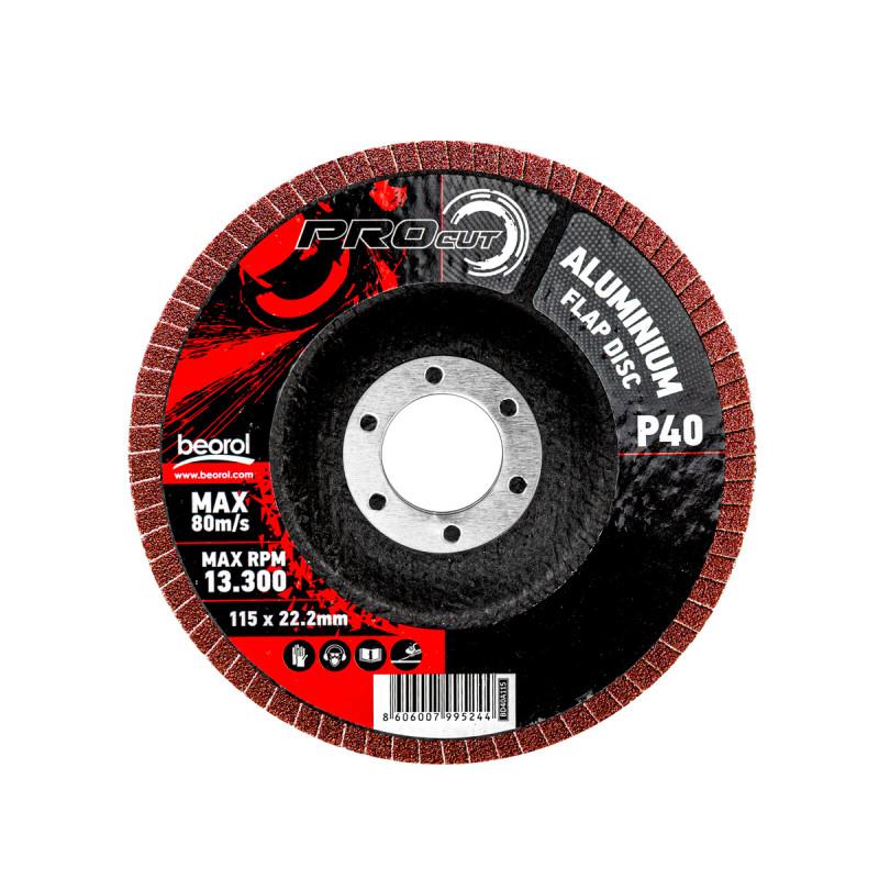 Брусен диск алуминиум ø115мм, гранулација 40