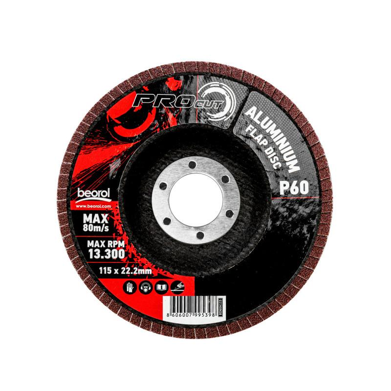 Брусен диск алуминиум ø115мм, гранулација 60