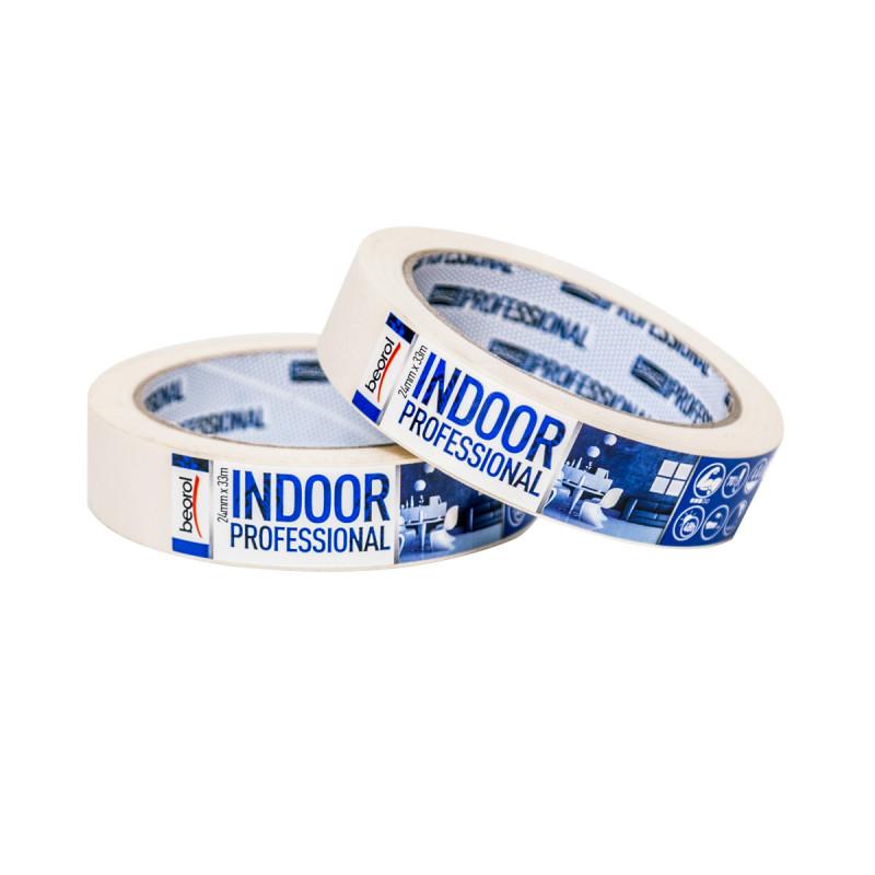Универзална креп трака Indoor Professional, 24мм x 33м, 70ᵒC