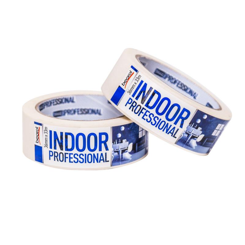 Универзална креп лента Indoor Professional, 36мм x 33м, 70ᵒC