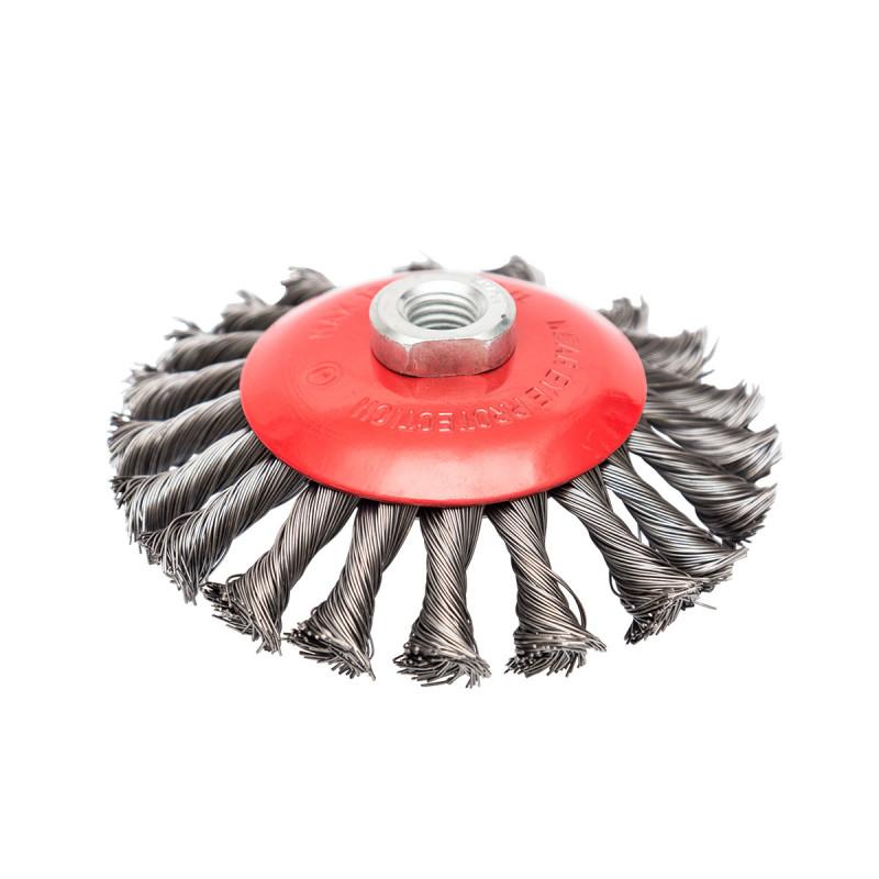 Машинска челична четка кружна вплетена ø125мм за брусилица