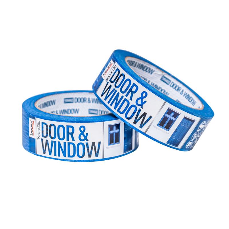 Креп трака за заштита на врата и прозори 36мм x 33м, 80ᵒC