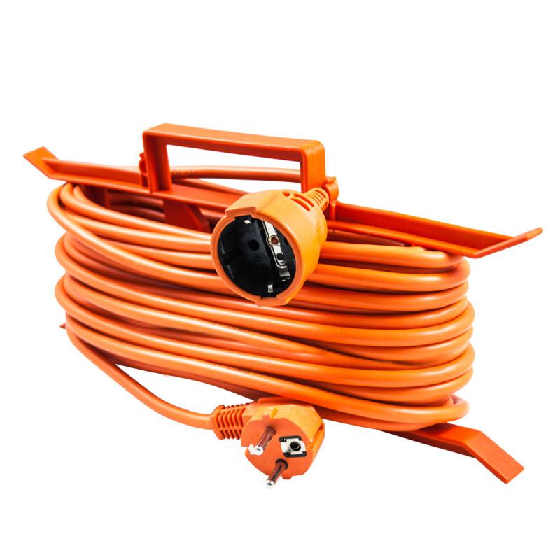 Еднострука преносна приклучница, 30m, портокал
