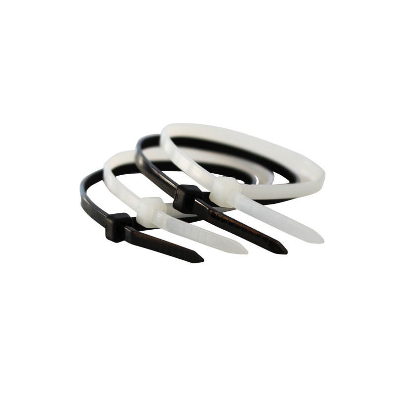 Пластични стегачи црни 3.6x200mm 100kom