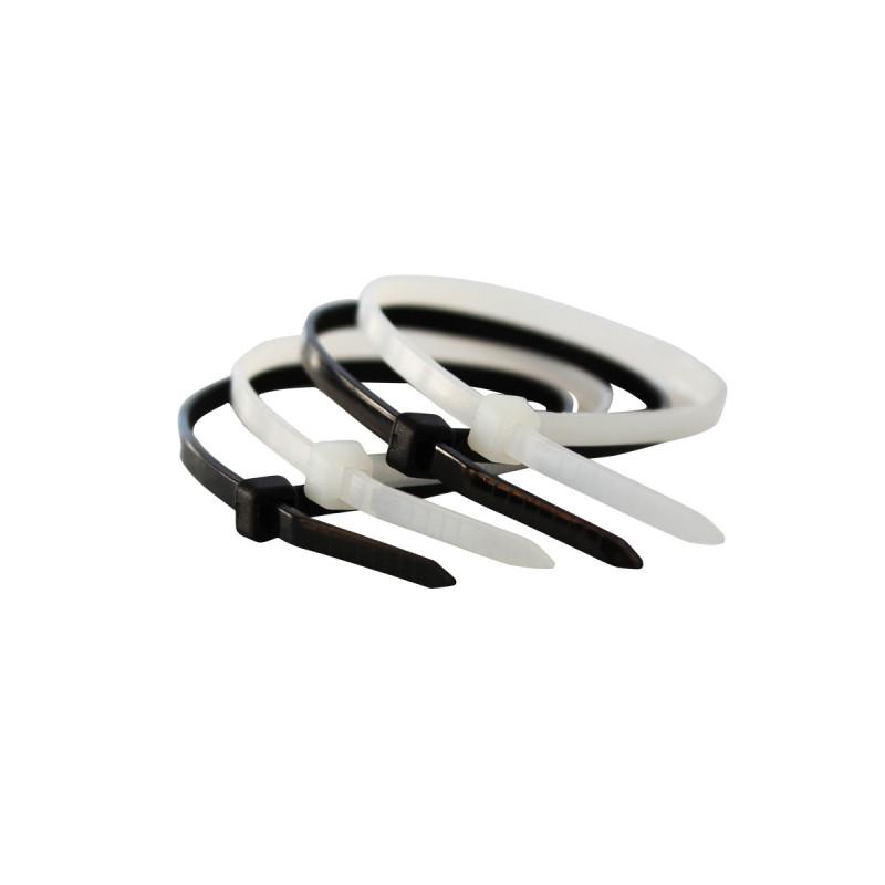 Пластични стегачи црни 7.2x300mm 100kom